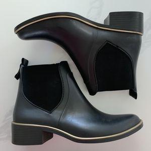 KATE SPADE SEDGEWICK BLACK RAIN BOOTS - SIZE 6/7